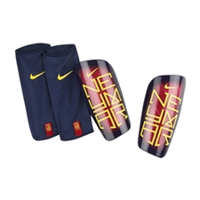 Nike Mercurial Lite Neymar Soccer Shinguards (Team Red/Navy/Yellow)