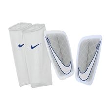 Nike Mercurial Lite '14 Soccer Shinguards (Metallic White/Hyper Cobalt/White)