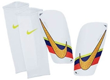 Nike CR7 Mercurial Lite Soccer Shinguards (White/Total Crimson/Volt)