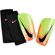Nike Mercurial Lite Soccer Shinguards (Electric Green/Hyper Orange/Black)