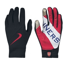 Nike Arsenal FC Stadium Gloves (Navy/Artillery Red/White)