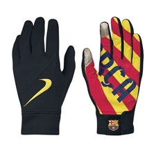 Nike FC Barcelona Stadium Gloves (Black/University Red/Vibrant Yellow)