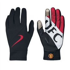 Nike Manchester United Stadium Gloves (Black/Diablo Red/White)