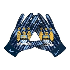 Nike Manchester City Stadium Gloves (Navy/Light Blue)