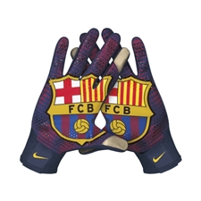 Nike FC Barcelona Stadium Gloves (Navy/Team Red/Yellow)