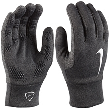Nike Hyperwarm Field Player Soccer Gloves (Black Heather/Black/White)