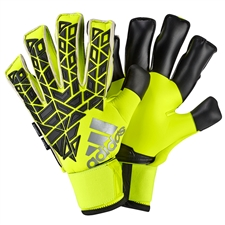 Adidas ACE Trans Fingersave Pro Soccer Goalkeeper Gloves (Solar Yellow/Black)