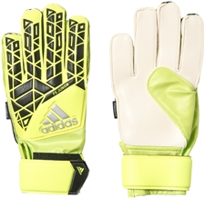 Adidas ACE Fingersave Junior Goalkeeper Gloves (Solar Yellow/Black/Onix)