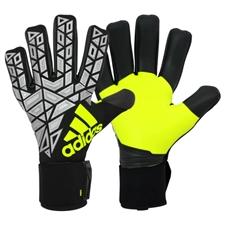 Adidas ACE Trans Pro Soccer Goalkeeper Gloves (Black/Silver Metallic/Solar Yellow)