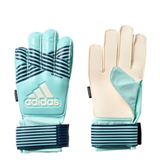 Adidas ACE Fingersave Junior Goalkeeper Gloves (Energy Aqua/Energy Blue)