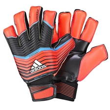 Adidas Predator Zones Ultimate Fingersave Soccer Gloves (Solar Red/Black/Solar Blue/White)