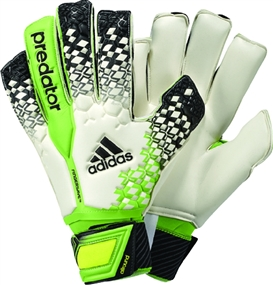 Adidas Predator Fingersave Allround 2013 Soccer Gloves (White/Black/Ray Green/Electricity)