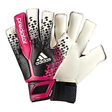 Adidas Predator Fingersave Allround Soccer Gloves (Black/White/Vivid Berry/Solar Slime)