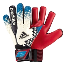 Adidas 2014 Manuel Neuer Predator Pro Soccer Gloves (White/Vivid Teal/Black/FCB True Red)