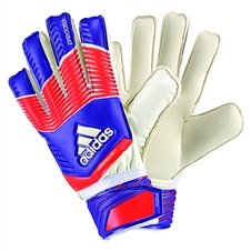 Adidas Predator Fingersave Replique Soccer Gloves (Night Flash/Solar Red/White)