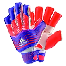 Adidas Predator Zones Ultimate Fingersave Soccer Gloves (Night Flash/Solar Red/White)