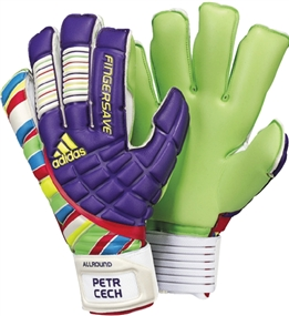 Adidas Fingersave Allround 2011 Petr Cech Soccer Gloves (Sharp Purple/Multicolor)