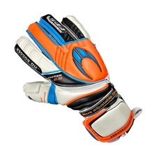 HO Soccer Pro Protek Flat Soccer Goalkeeper Gloves (Orange/Black/Royal)