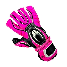 HO Soccer Ghotta Roll/Negative Long Palm Soccer Goalkeeper Gloves (Pink/Black/White)