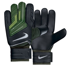Nike Goalkeeper Sentry Soccer Gloves (Black/Dark Army/Volt/Silver)