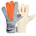 Nike Confidence Soccer Goalkeeper Glove (Grey/Total Orange)