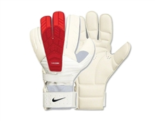 Nike Goalkeeper Confidence Soccer Glove (White/Total Crimson/Black)