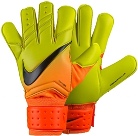 Nike Vapor Grip3 Soccer Goalkeeper Gloves (Bright Citrus/Volt/Black)