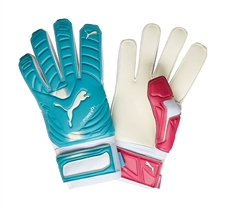 Puma evoPOWER Grip 2 Regular Cut Soccer Gloves (Beetroot Purple/Bluebird)
