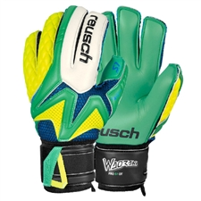 Reusch Waorani Pro S1 Ortho-Tec Soccer GK Gloves (Irish Green/Safety Yellow)