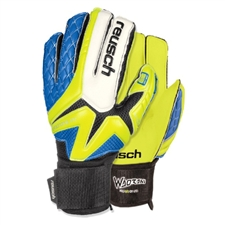 Reusch Waorani Pro SG LTD Ortho-Tec Soccer GK Gloves (Safety Yellow/Ocean Blue/Safety Yellow)