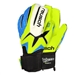 Reusch Waorani Elite SG LTD  Soccer GK Gloves (Safety Yellow/Ocean Blue/Safety Yellow)