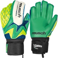 Reusch Waorani SG Impact Goalkeeper Gloves (Irish Green/Safety Yellow)