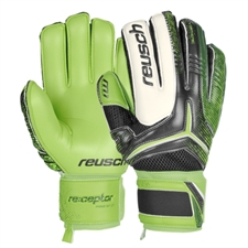 Reusch RE:CEPTOR Prime M1 Ortho-Tec Soccer GK Gloves (Black/Dark Green/Green Gecko)