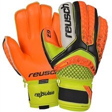 Reusch Pulse Pro G2 Ortho-Tec GK Gloves (Black/Shocking Orange)
