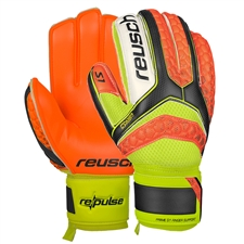 Reusch RE:PULSE S1 Finger Support GK Gloves (Black/Shocking Orange)