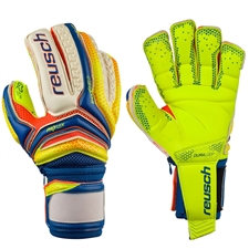 Reusch Serathor Supreme G2 Ortho-Tec GK Gloves (Dazzling Blue/Safety Yellow)