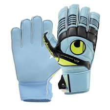 Uhlsport Eliminator Soft SF Junior Goalkeeper Gloves (Ice Blue/Black/Yellow)