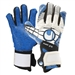 Uhlsport Eliminator Supergrip HN Goalkeeper Gloves (White/Black/Energy Blue)