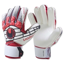 Uhlsport Eliminator Soft SF Junior Goalkeeper Gloves (White/Black/Red)