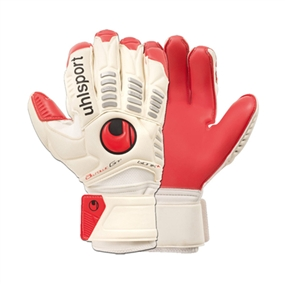 Uhlsport Ergonomic Absolutgrip Bionik+ Soccer Gloves (White/Red/Black)