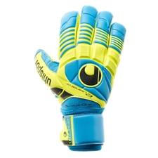Uhlsport Eliminator Absolutgrip Goalkeeper Gloves (Cyan/Fluo Yellow/Black)