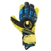 Uhlsport Eliminator Supergrip HN Goalkeeper Gloves (Fluorescent Yellow/Black/Hydro Blue)