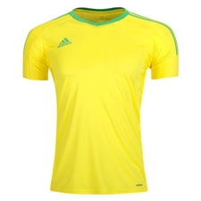 Adidas Revigo 17 Goalkeeper Short Sleeve Jersey (Bright Yellow/Energy Green)