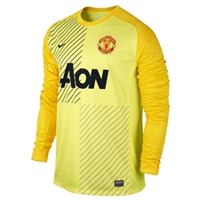 Nike Men's Manchester United Long Sleeve Replica Goalkeeper Jersey (Lemon Frost/Chrome Yellow/Black)
