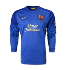 Nike Men's FC Barcelona Long Sleeve Replica Goalkeeper Jersey (Varsity Royal)