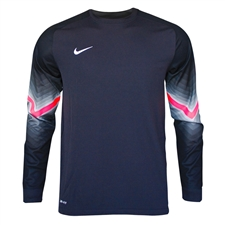 Nike Men's Goleiro Long Sleeve Goalkeeper Jersey (Black/Solar Red/White)