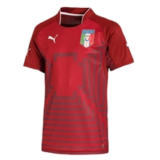 Puma Italy Goalkeeper Jersey (Pomegranate/White)