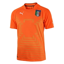 Puma Italy Goalkeeper Jersey (Fluro Orange/Flame Orange)