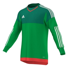 Adidas Youth Top 15 Goalkeeper Jersey (Green/Bright Green/White/Bright Red)