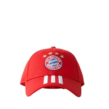 Adidas FC Bayern Munich 3-Stripes Hat (FCB True Red/White)
